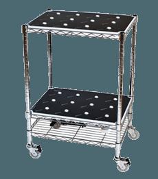 Wood-SmallTrolley-Silver